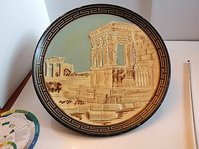 "x927 ANCIENT GREEK DESIGN REDWARE WALL PLATE, PARTHENON DESIGN 11"" • CAD $37.80"