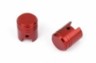 "SIFAM - Capuchon de Valve ""piston"" rouge - scooter - moto - voiture - (lot de 2)"