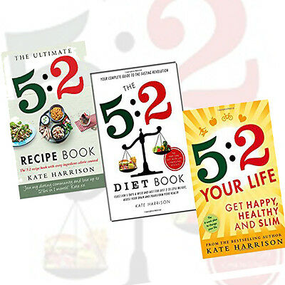 Kate Harrison 3 Books Collection Set Pack(The 5:2 Diet Book,The 5:2 Diet Book)