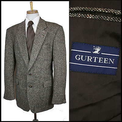 Vintage Gurteen Tweed Blazer Country Evening Suit Classic Medium 40