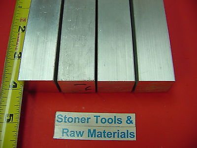 "4 Pieces 1"" X 1"" ALUMINUM 6061 SQUARE BAR 4"" long New T6 Flat Mill Stock 1.00"