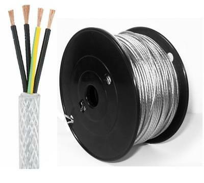 SY CABLE 4MM 3 CORE FLEXIBLE CONTROL TRANSPARENT ELECTRICAL CABLE 100M DRUM