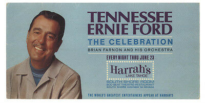Tennesse Ernie Ford The Celebration 1971 Harrah's Lake Tahoe Show Handbill