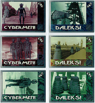 Doctor Who Cornerstone Series 2 Set Of Six Foil Cards