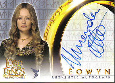 Lord Of The Rings Two Towers Autograph Card Miranda Otto As Eowyn