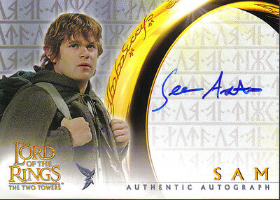 Lord Of The Rings Two Towers Autograph Card Sam