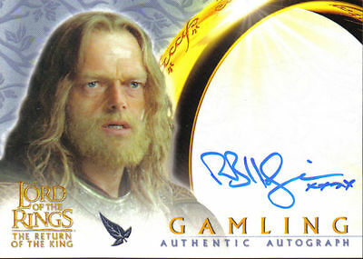Lord Of The Rings Return Of The King Autograph Card Gamling