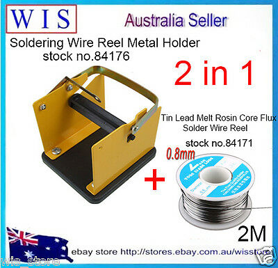 Solder Wire Reel Metal Holder Stand Support,Solder Wire Rack w Solder Wire Reel