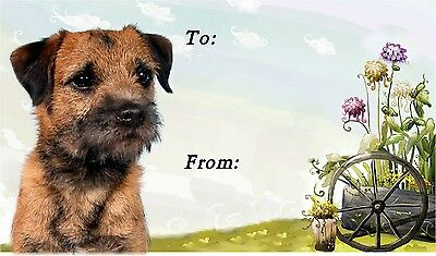 Border Terrier Dog Self Adhesive Gift Labels by Starprint