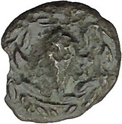 Elaia in Asia Minor 4th-3rdCentBC Ancient Greek Coin Athena Corn-grain  i46041