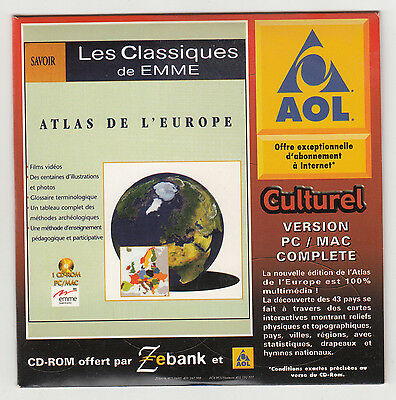 *** Atlas de l'Europe *** CDRom PC - Neuf - vintage 1999