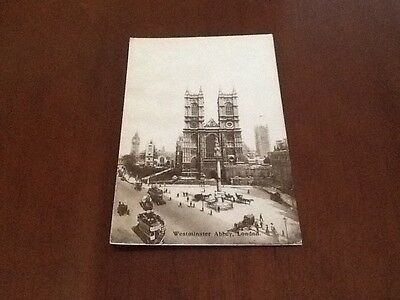 old postcard London . Westminster Abbey