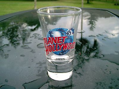 """Planet Hollywood Aspen Shot Glass  3.5"""" Clearance Price"""
