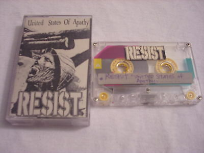 MEGA RARE Resist DEMO CASSETTE TAPE United States Of Apathy 1989 punk Deprived !