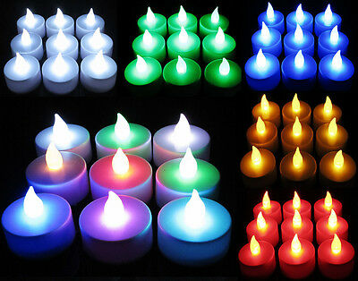Wedding Party Decor Flameless Tea Light LED Candle Flickering With Battery