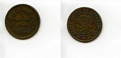 Luxemburg 5 Centimes 1860 A                                               # 5125