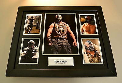Tom Hardy Signed Photo Large Framed The Dark Knight Rises Bane Autograph Display