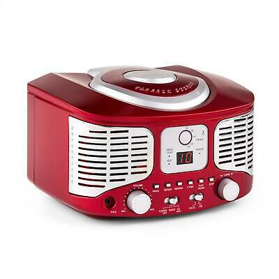 Super Auna Rcd320 Retro Design Kinder Cd Spieler Stereoanlage Ukw Radio  Rot