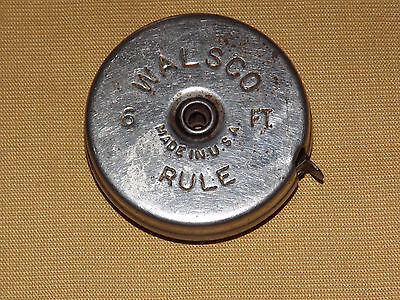 Vintage Walsco  Made In Usa 6 Ft Tape Measure