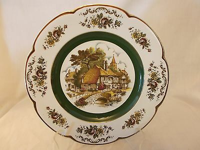 Woods and Sons England Ascot Service Decorative Plate - Cottage Scene