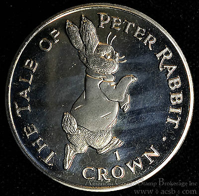 Gibraltar 1 Crown 1995 Gem BU PL 1C UK Britain Elizabeth II Tale Of Peter Rabbit