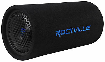 "Rockville RTB65A 6.5"" 300w Powered Active Car Subwoofer Bass Tube + MP3 Input"