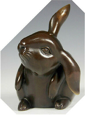 Beautiful copper statue sculpture lovely and cut rabbit with big ear don't miss