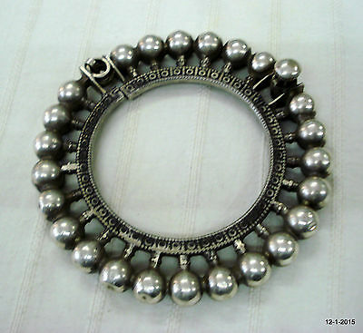 vintage antique tribal old old silver bracelet bangle traditional rabari jewelry
