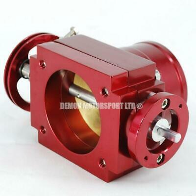 Performance Red 70mm CNC Billet Alloy Custom Throttle Body Universal Upgrade New