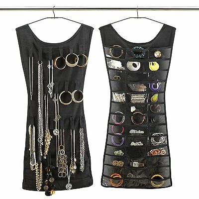 Umbra Little Black Dress Jewelry Ring Necklace Closet Hanging Space Organizer