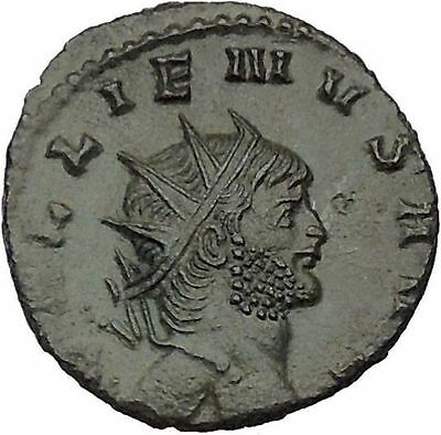 GALLIENUS son of Valerian I Authentic  Ancient  Roman Coin Antelope  i46348