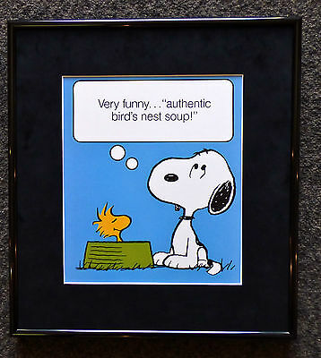 Peanuts Snoopy Woodstock Bird's Nest Soup Framed Poster Print Chinese Food