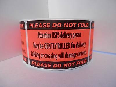 DO NOT FOLD FOLDING OR CREASING WILL DAMAGE CONTENTS sticker label 250/rl