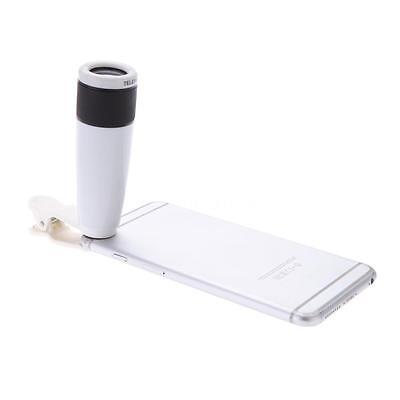 12X Zoom Phone Telephoto Optical Camera Lens Clip On for iPhone Samsung HTC etc.