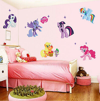My Little Pony Removable Wall Stickers Decals Baby Kids Nursery Decor Art Mural