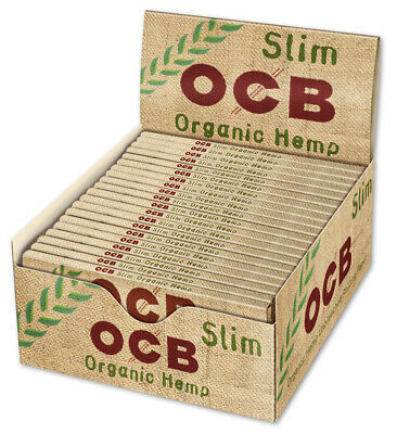 50 OCB King Siz Slim Organic Hemp 50 x32 Blatt Papers Blättchen Zigarettenpapier