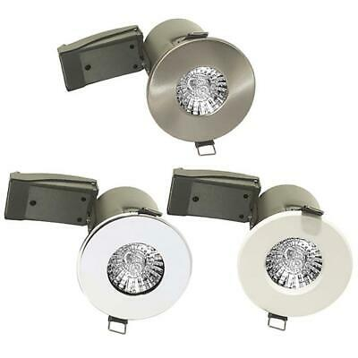 Luceco Fire Rated Recessed Bathroom Downlight IP65 Shower Ceiling Spotlight