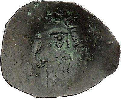 Authentic Ancient Medieval Byzantine Trachy Coin circa 1100-1300 AD i46073