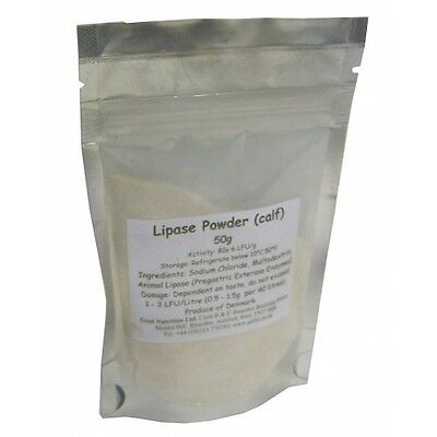 Lipase Enzyme (Calf) 50g pack - for cheesemaking