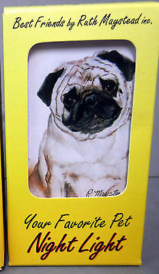 New Pug Dog Night Light  Pugs Bulldog Pet Dogs Lights Ruth Maystead PUG-1