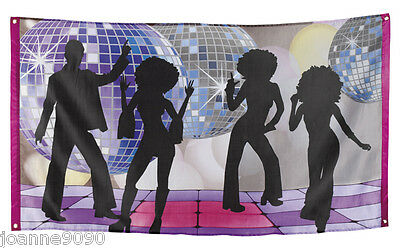 70s 80s 90s Disco Night Fever Wall Garland Decoration Party Flag Poster Banner