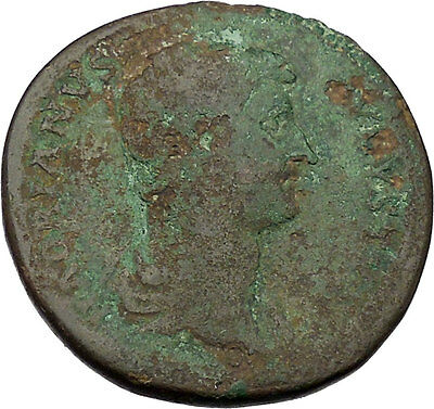 Hadrian 125AD Big Sestertius Ancient Roman Coin Justice, equality cult  i46102