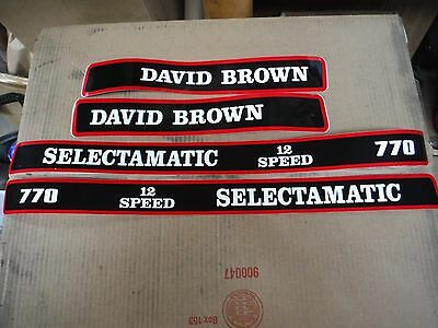 David Brown 770 Selectamatic Hood Decals.   12-Speed. See Details & Pictures