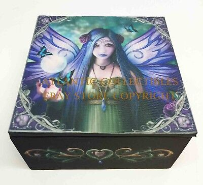 Magical Enchantress Mystic Aura Fairy Jewelry Mirror Box By Anne Stokes