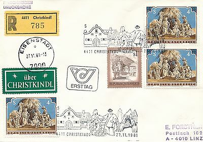 Christkindl Reco-Brief  27.11.1981 LZ Eisenstadt    16/1/15