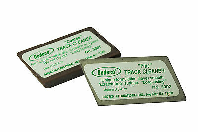 Dedeco 1 x Fine & 1 x Coarse Abrasive Track Cleaning Rubber. X1290