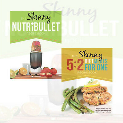 The Skinny Nutribullet Recipe,The Skinny 5: 2 Fast Diet Meals for One 2 Books