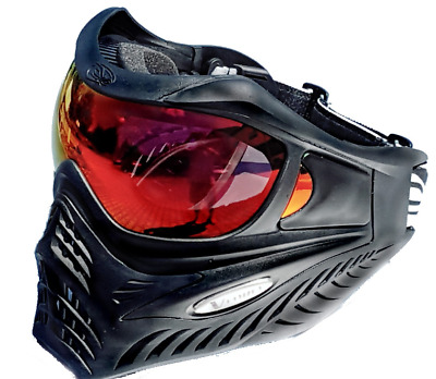 VForce Grill  Thermal Paintball Maske Schenk Style  Schwarz Rotes HDR