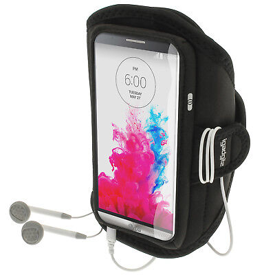 Black Running Jogging Sports Armband for LG G3 D855 D850 D851 Fitness Gym Case