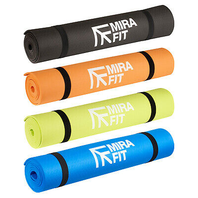 MIRAFIT 6mm Non Slip Yoga/Pilates Fitness Exercise Floor Mat Gym Workout/Class